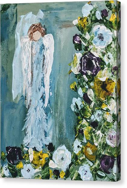 Garden Angel Canvas Print