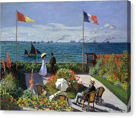 Garden At Sainte Adresse By Claude Monet Canvas Print