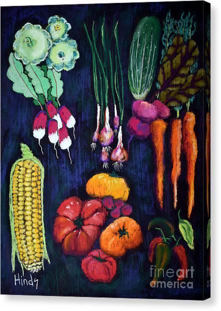 Vegetable Garden Canvas Print - Garden Bounty by David Hinds