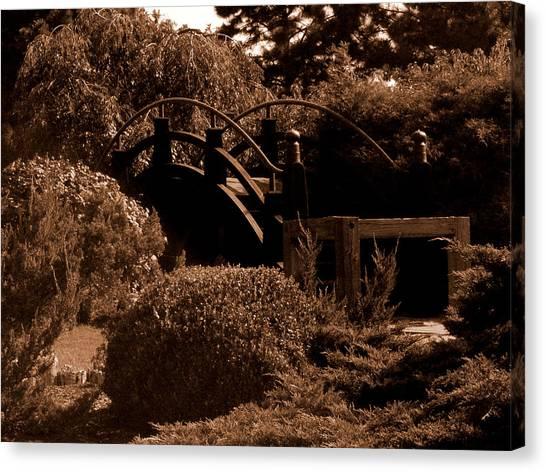Canvas Print - Garden Bridge by Audrey Venute