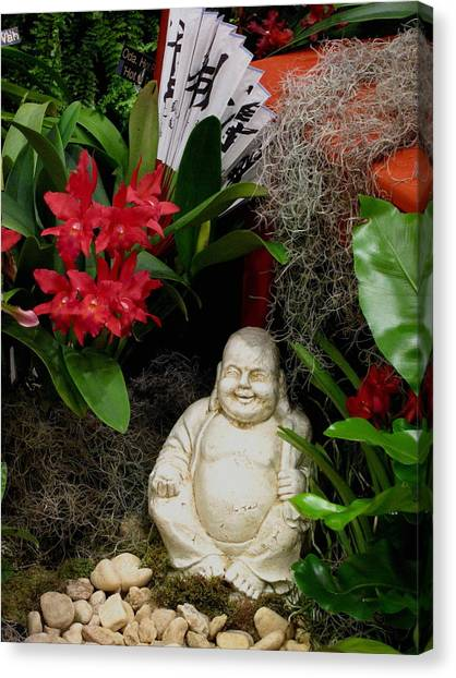 Garden Buddha Canvas Print