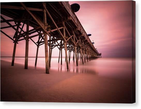 South Carolina Canvas Print - Garden City Pier June Sunset by Ivo Kerssemakers