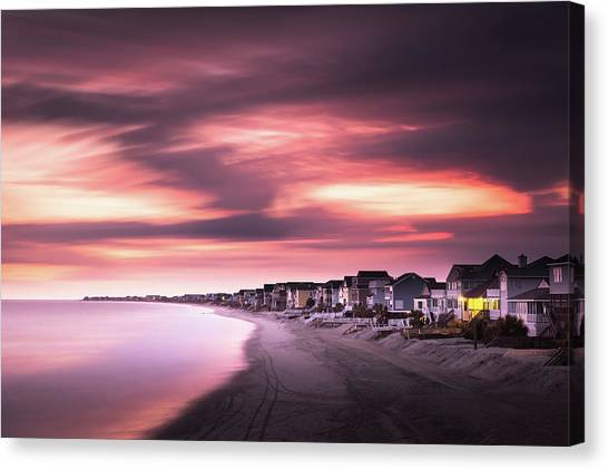 South Carolina Canvas Print - Garden City Sunset by Ivo Kerssemakers