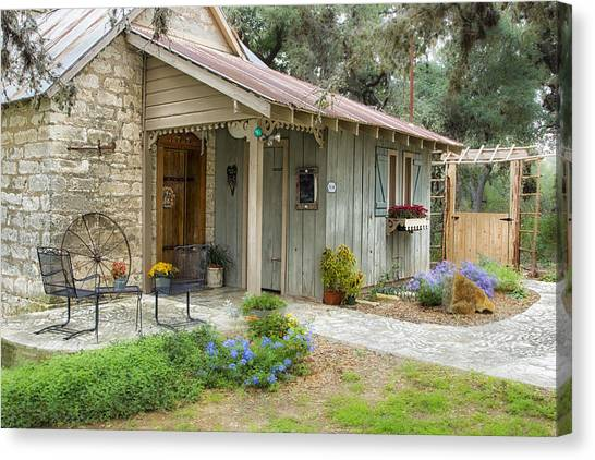 Garden Cottage Canvas Print
