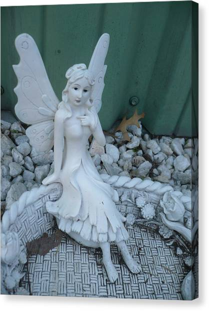 Garden Fairy Canvas Print by Stephen Davis