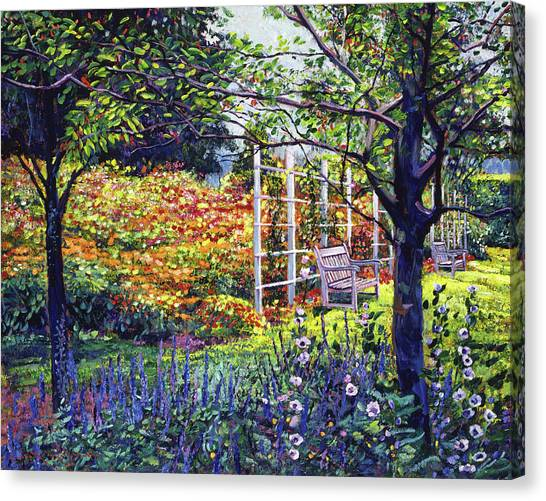 Arbor Canvas Print - Garden For Dreaming by David Lloyd Glover