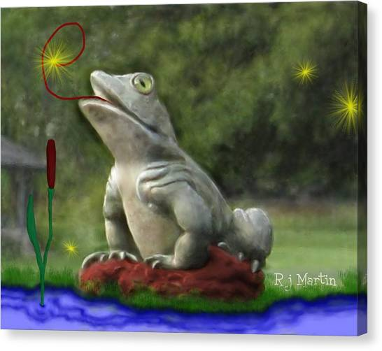 Garden Frog Canvas Print