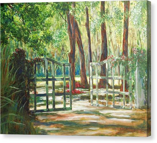 Garden Gate Canvas Print by Beth Maddox