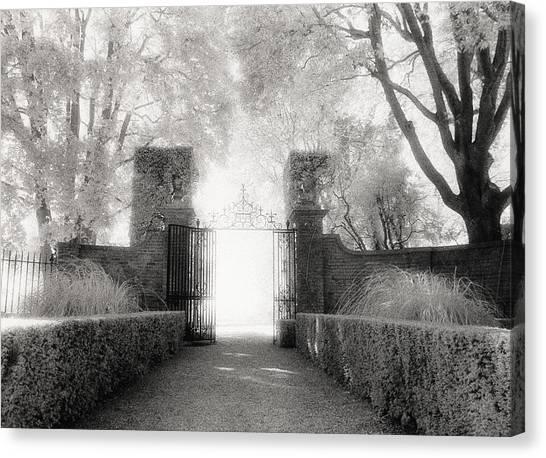 Garden Gate Canvas Print by Michael Hudson