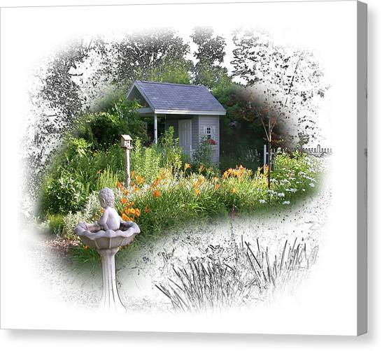 Garden House Canvas Print