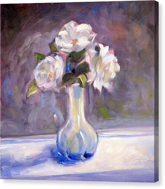 Still Life Canvas Print - Garden Icebergs by Athena Mantle