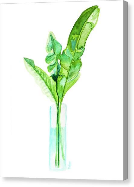 Bananas Canvas Print - Garden Indoors by Roleen Senic