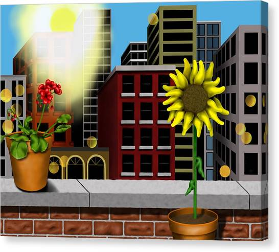 Garden Landscape II - Across The Urban Jungle Canvas Print
