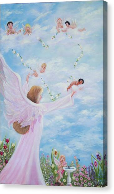 Garden Of Angels Canvas Print by Joni McPherson