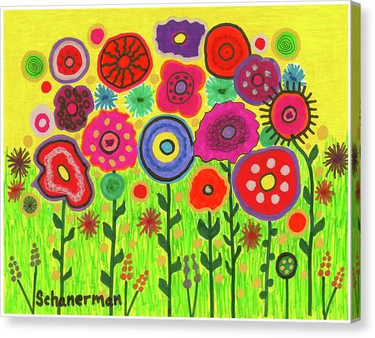 Garden Of Blooming Brilliance Canvas Print