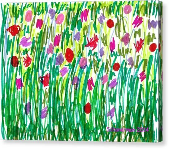 Garden Of Flowers Canvas Print
