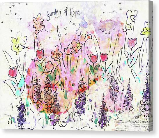 Canvas Print featuring the painting Garden Of Hope  by Claire Bull