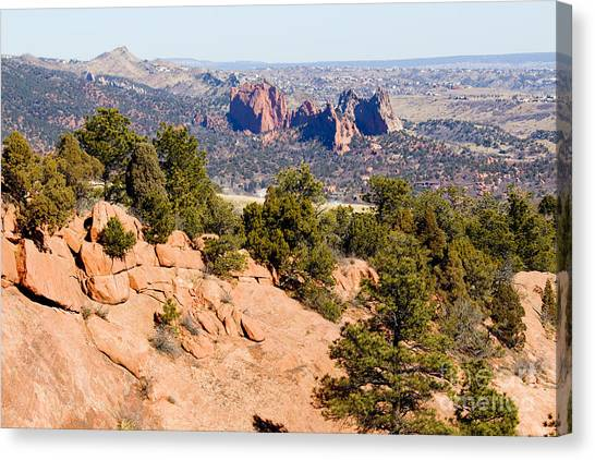 Garden Of The Gods And Springs West Side Canvas Print