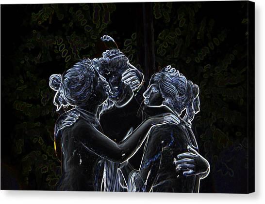 Garden Of The Neon Gods Canvas Print