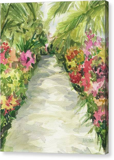 Orchids Canvas Print - Garden Path New York Botanical Garden Orchid Show by Beverly Brown