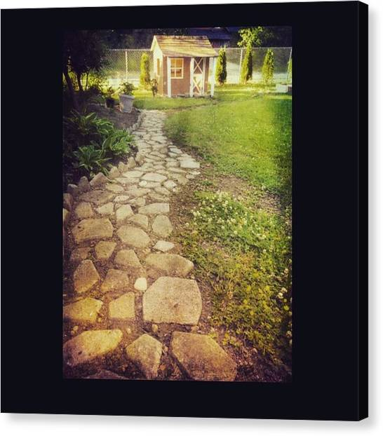 Seattle Canvas Print - Garden Path  #path #yard #seattle by Joan McCool