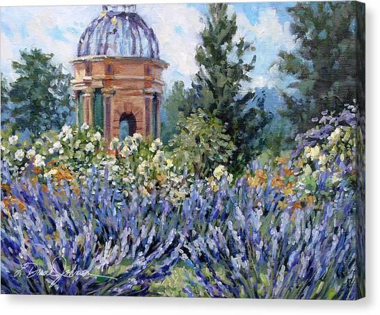Garden Profusion - Lavendar Canvas Print by L Diane Johnson