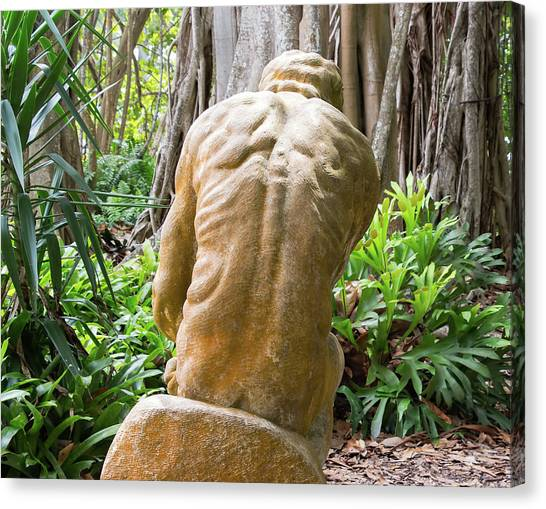 Garden Sculpture 1 Canvas Print