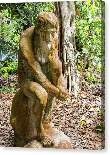 Garden Sculpture 3 Canvas Print
