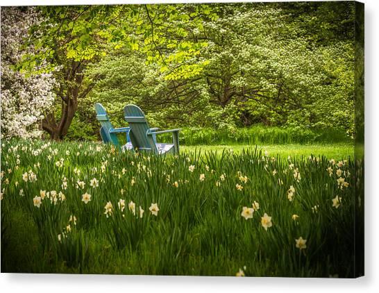 Garden Seats Canvas Print