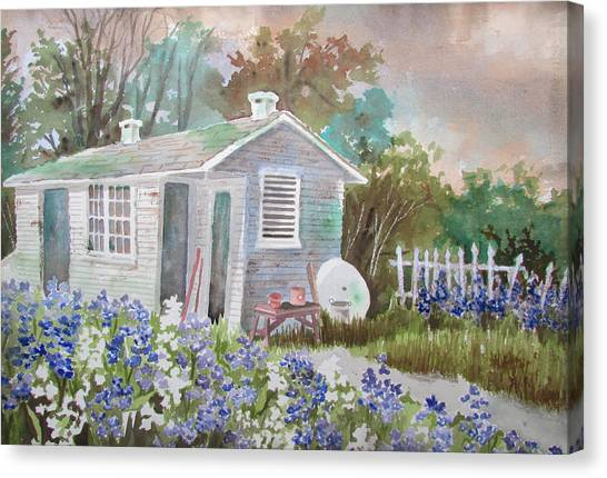 Garden Shed Two Canvas Print