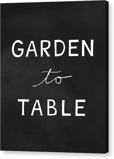 Tables Canvas Print - Garden To Table- Art By Linda Woods by Linda Woods
