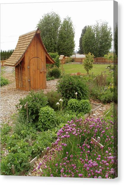 Garden Toolshed, 2005 Canvas Print by Leizel Grant