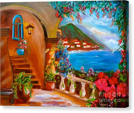 Garden Veranda 1 Jenny Lee Discount Canvas Print
