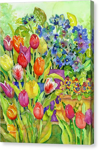 Garden Visitors Canvas Print