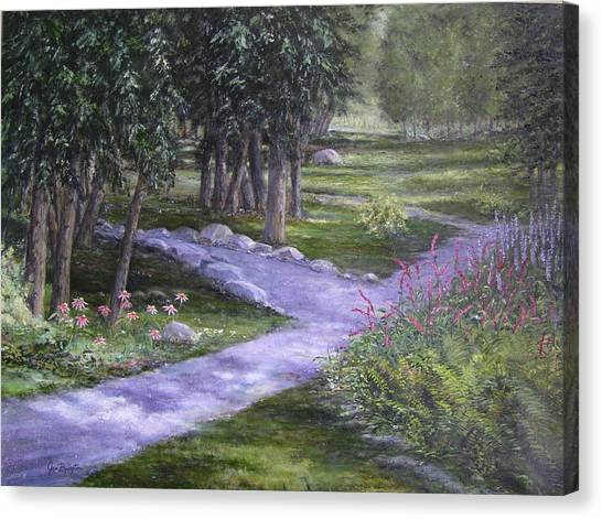 Garden Walk Canvas Print