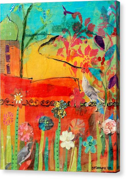 Garden Walls Canvas Print by Suzanne Kfoury
