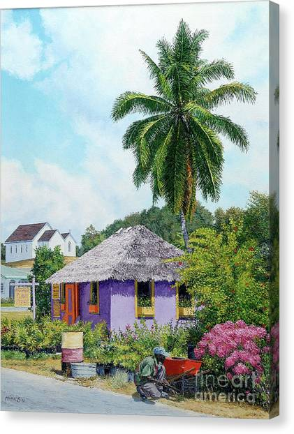 Gardener Hut Canvas Print