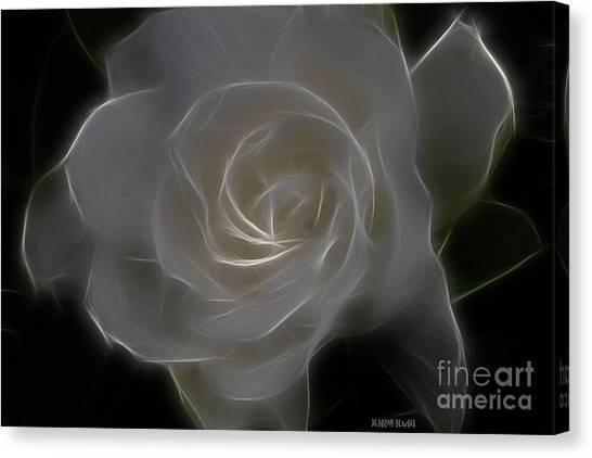 Gardenia Blossom Canvas Print
