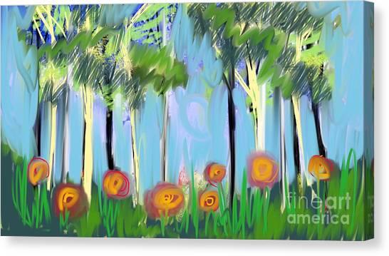 Gardenscape 1 Canvas Print