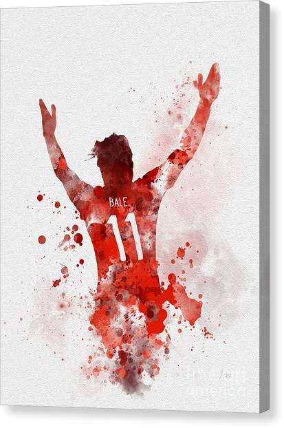 Real Madrid Canvas Print - Gareth Bale by Rebecca Jenkins