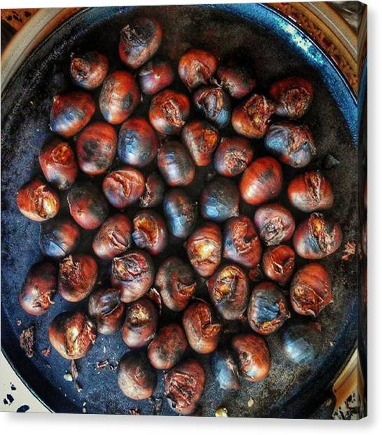 Roast Canvas Print - #gargano #forestfruits by Michele Stuppiello