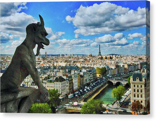 Gargoyle With A View Canvas Print