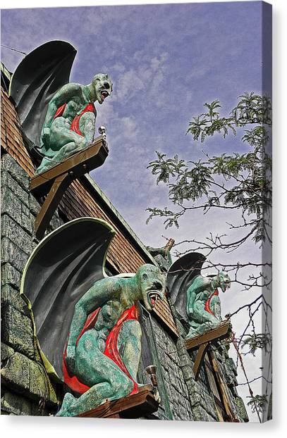 Gargoyles Galore Canvas Print by Elizabeth Hoskinson