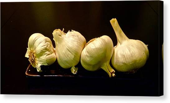 Canvas Print - Garlic Foursome  by Charles Schaefer