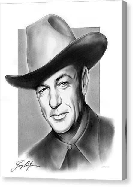 Signature Canvas Print - Gary Cooper Signature by Greg Joens