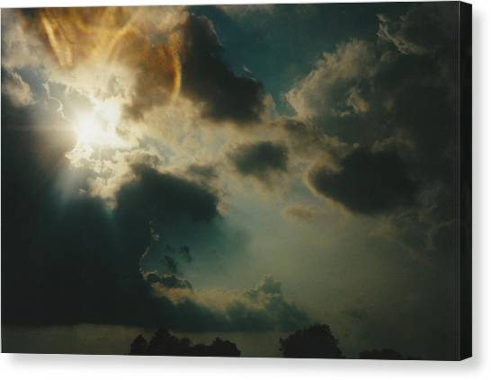 Gary Indiana Storm On The Rise Canvas Print by Gene Linder