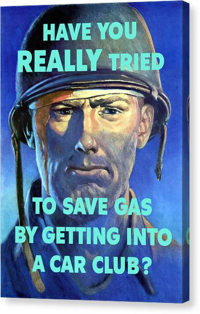 Soldiers Canvas Print - Gas Conservation Ww2 Poster by War Is Hell Store
