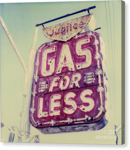 Gas For Less Canvas Print by Steven  Godfrey