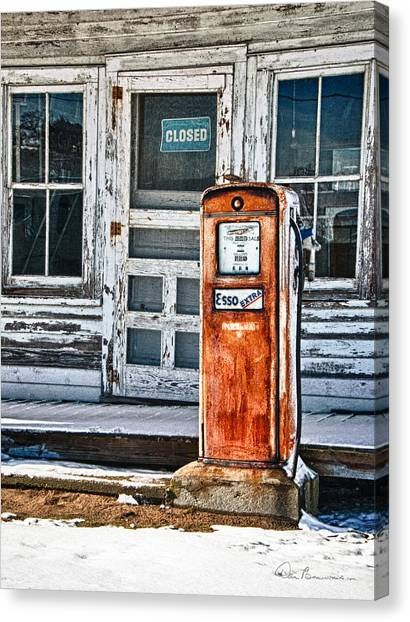 Gas Pump 7153 Canvas Print