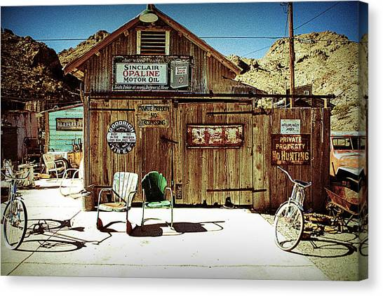 Gas Station Canvas Print